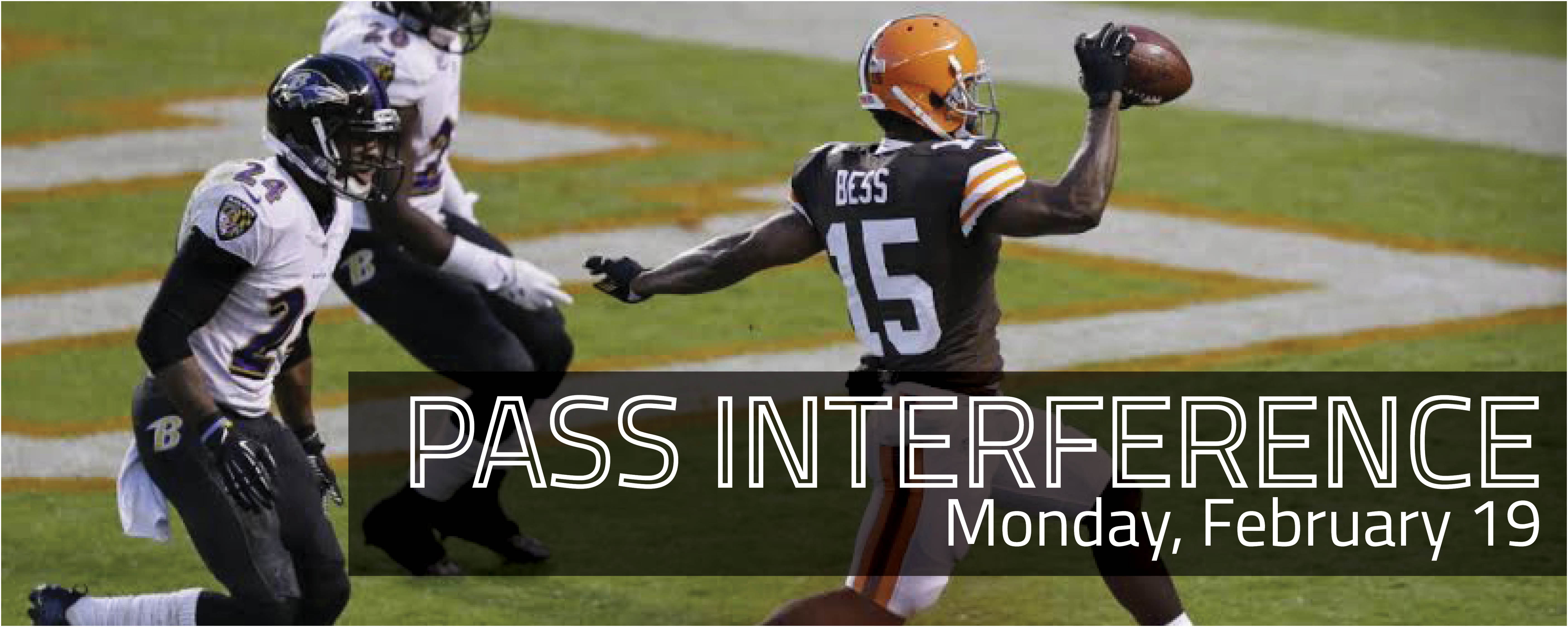 Pass Interference documentary showing on Monday, February 19